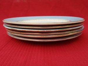 Six assiettes faïencerie Gilbert